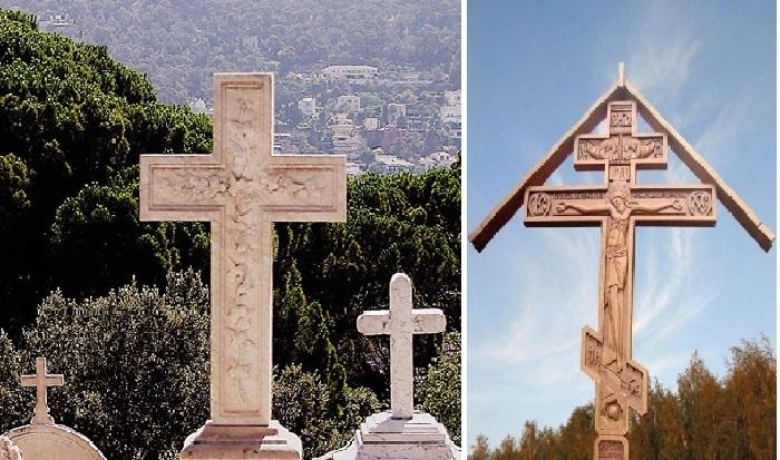 C:\Users\AdminX\Desktop\НАТАЛИ\ПАМЯТНИКИ\сайт\материалы для заполнения\статьи\Как возникла традиция устанавливать памятники\Христианские надгробные кресты католического и православного вероисповедания.jpg